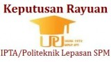 Keputusan Rayuan IPTA Politeknik