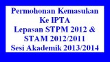 Permohonan_UPU_2013_STPM_STAM